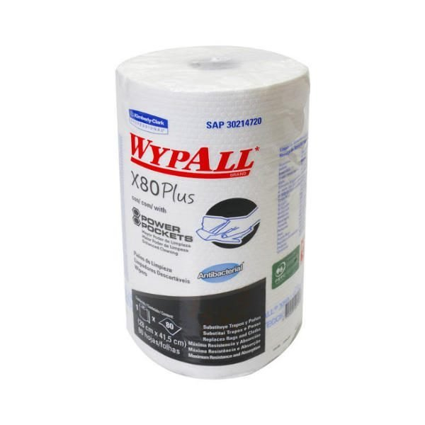 Wypall X80 plus antibacterial power pockets